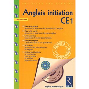 Anglais initiation CE1 + 2 CD - Retz