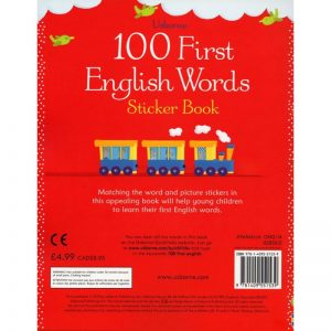 100 First English Words: Sticker Book ~ VO anglais